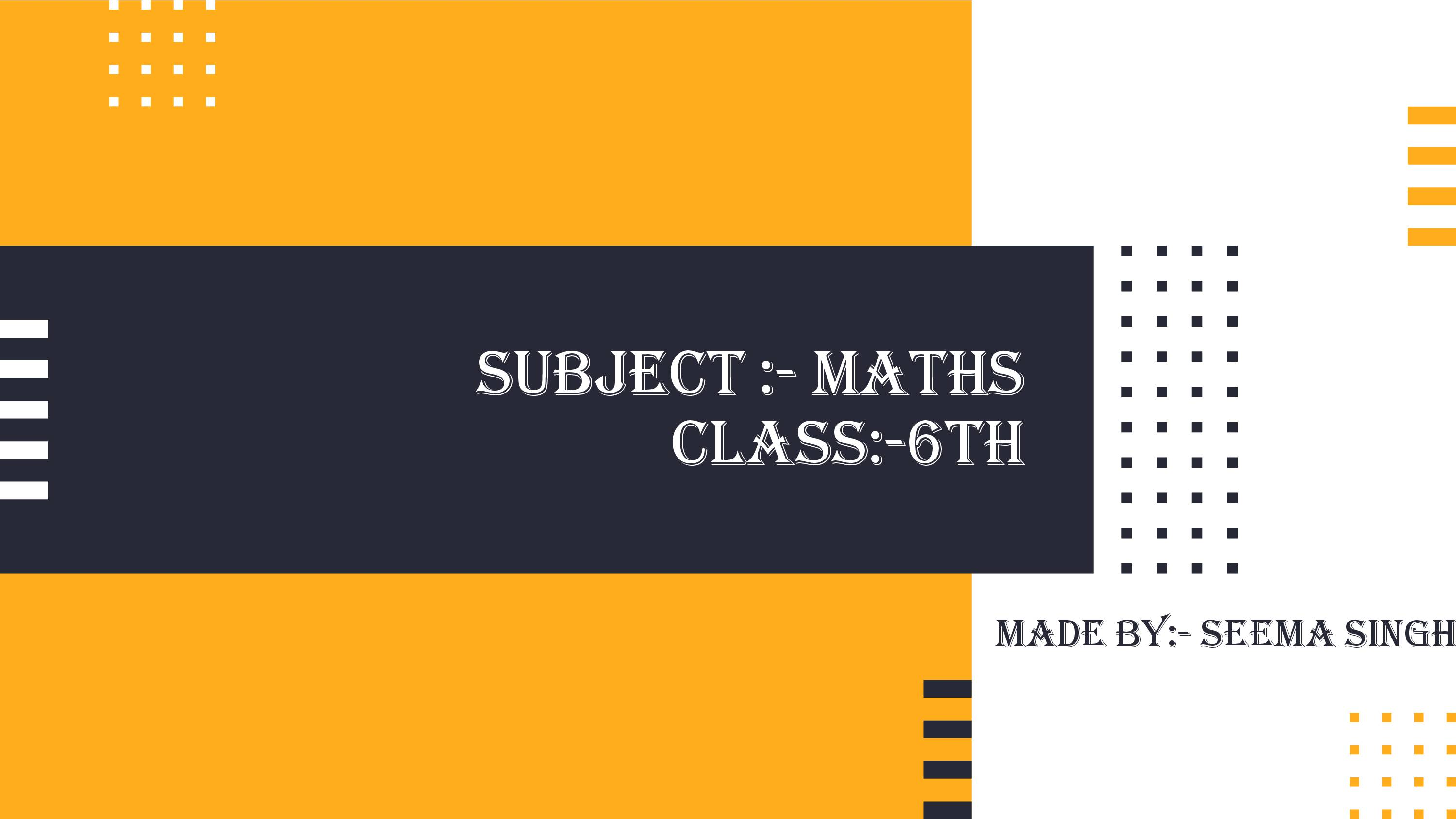 PPT on Class-6_mathematics_pair of angles