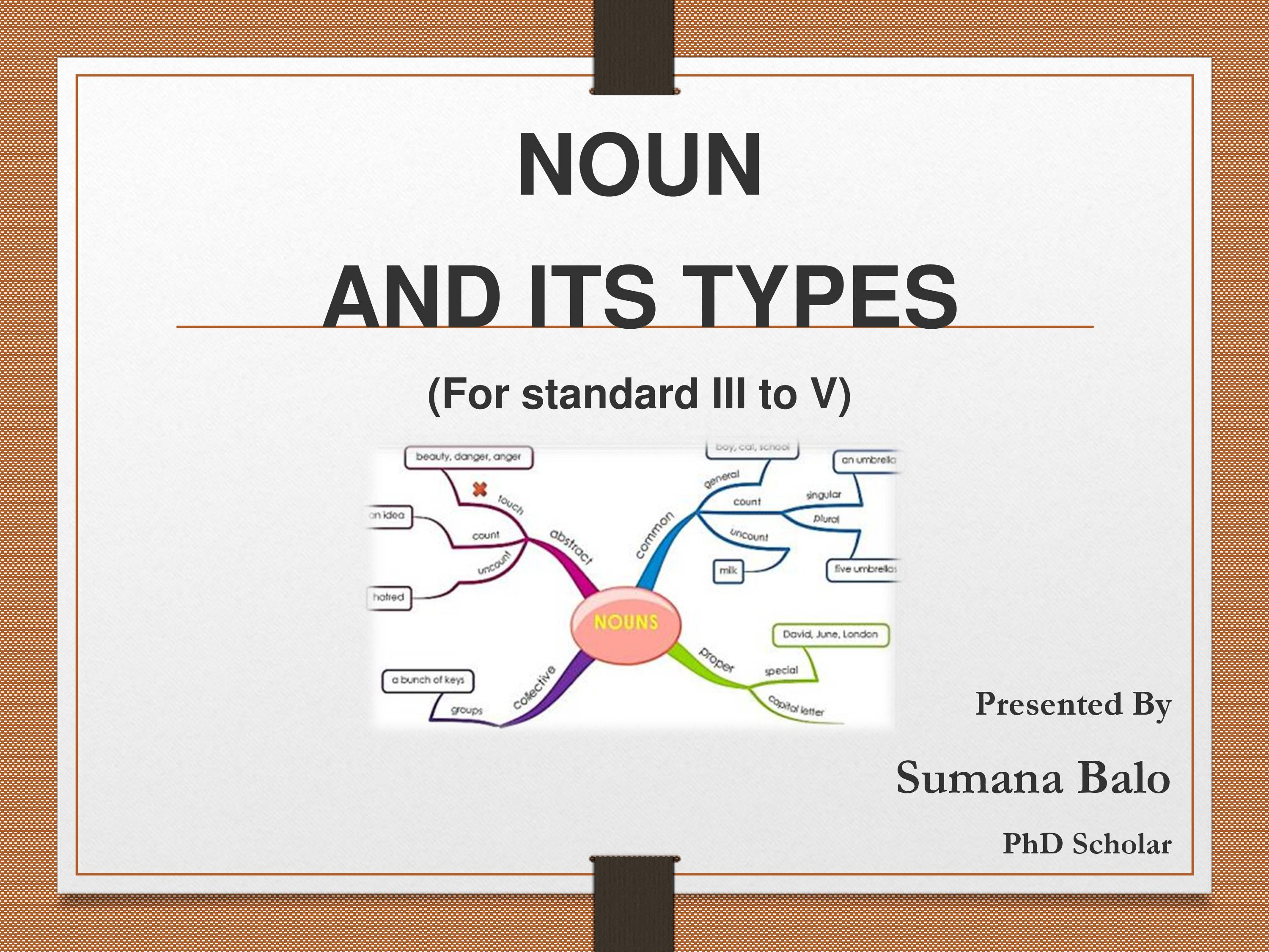 PPT on NOUN AND ITS TYPES