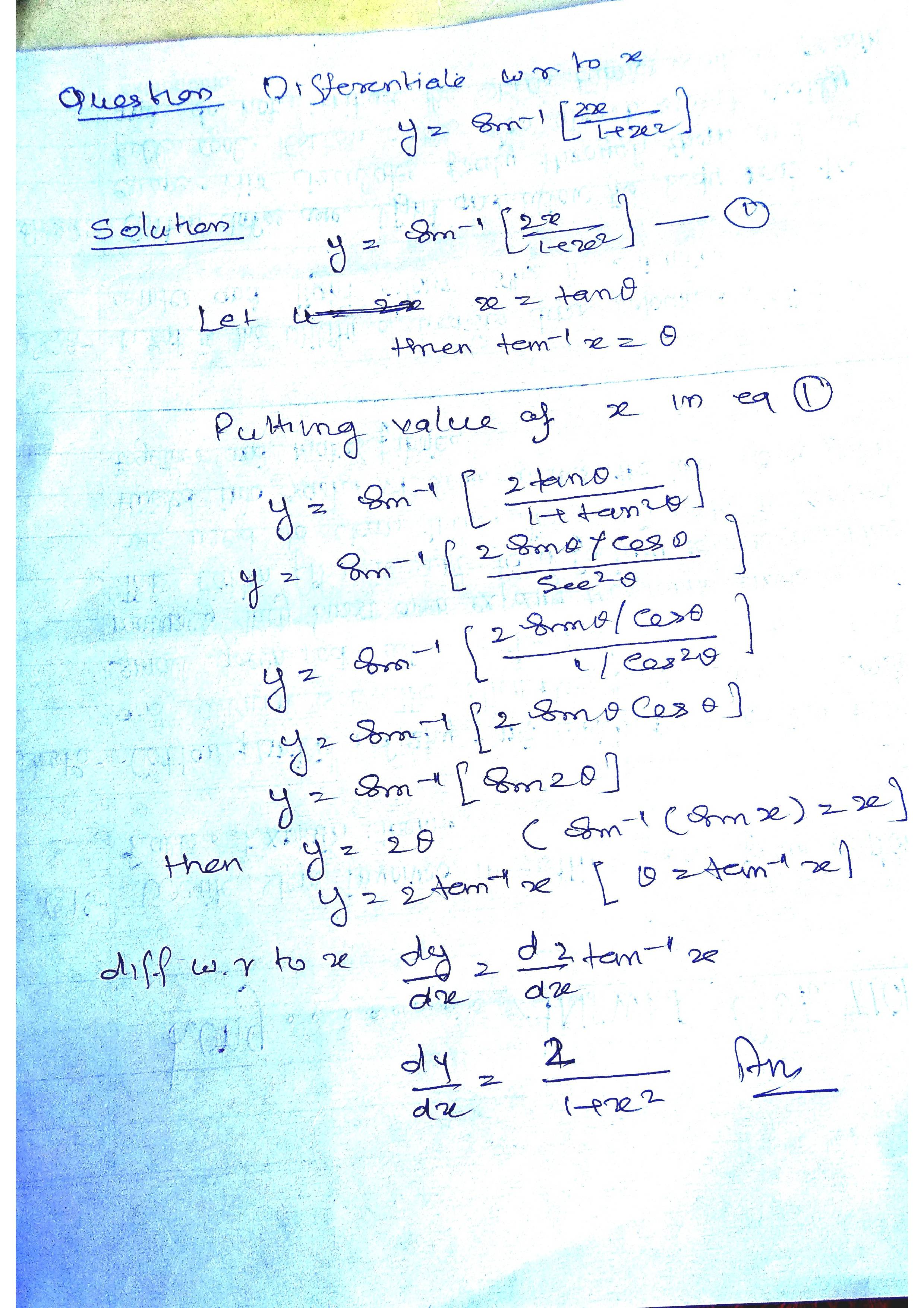 Notes on Solution for math problem