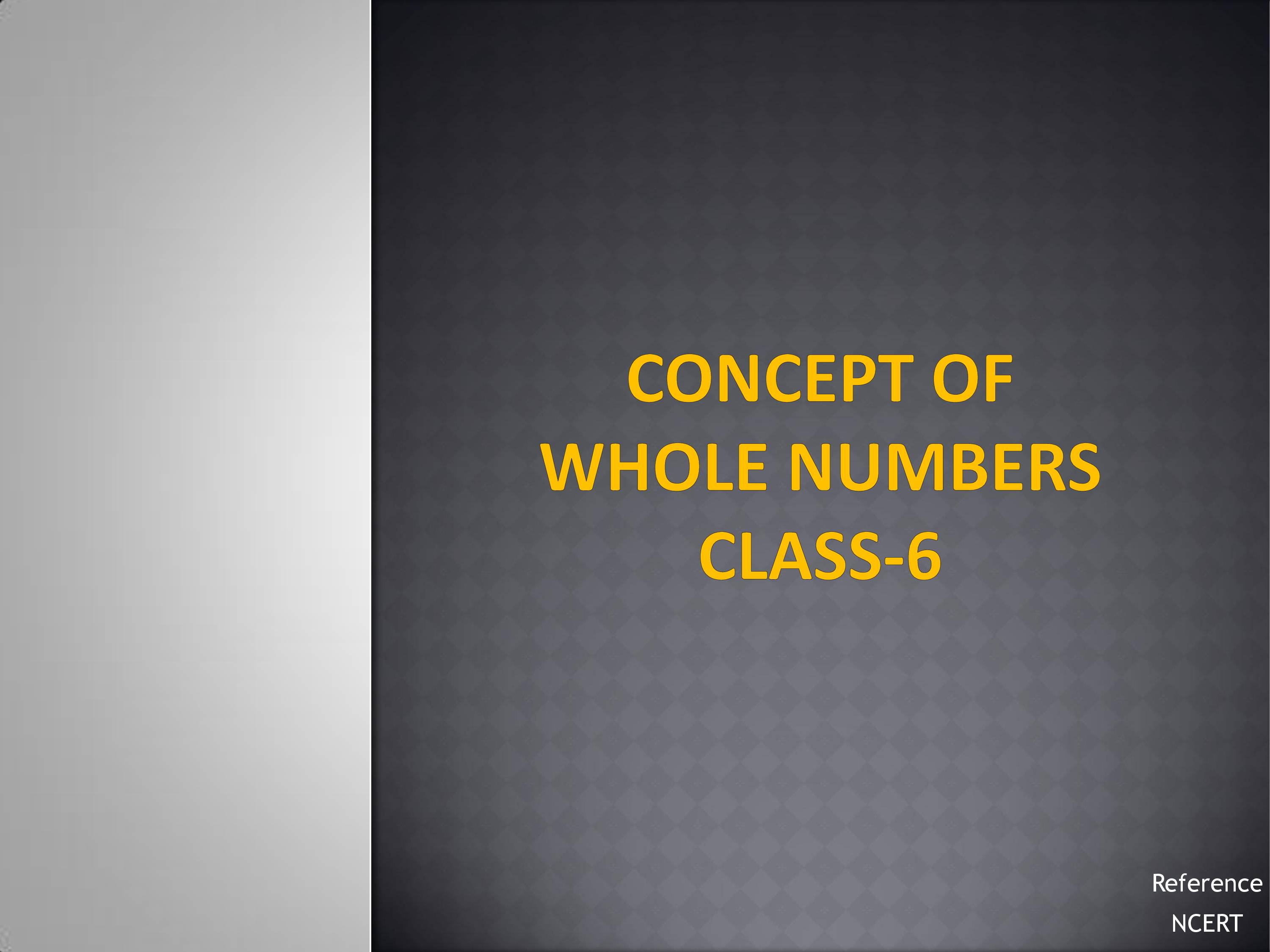 Notes on Concept of Whole Numbers_Class 6th